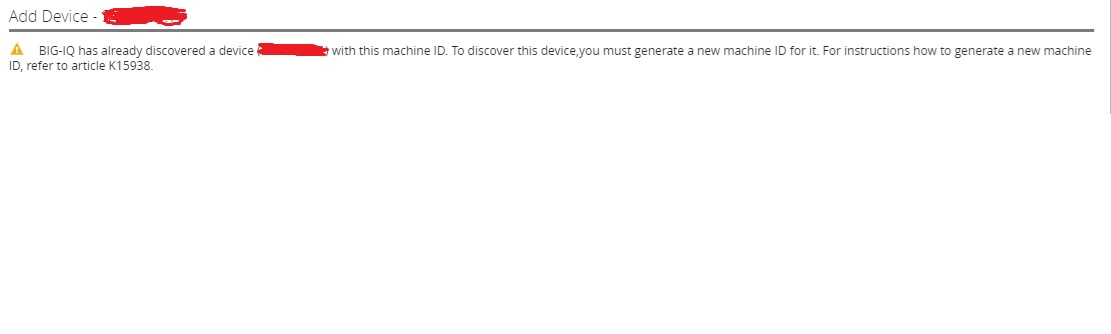 Unable to add F5 devices to BIGIQ: – indepthtechnology