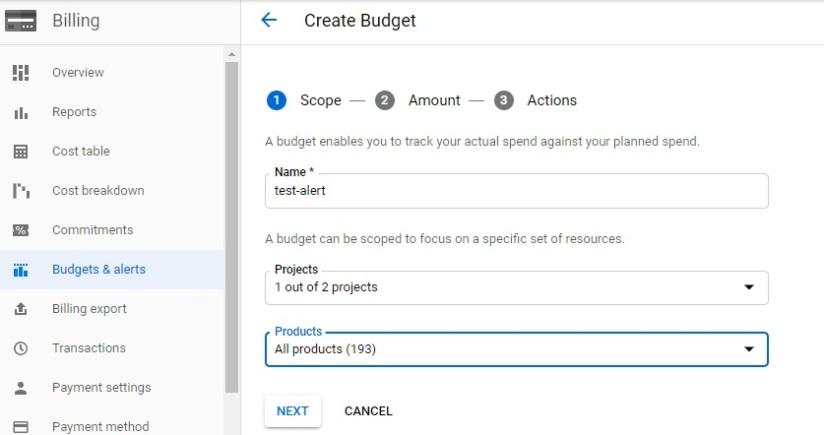 Create-Buduget-with-name